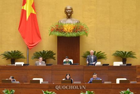 Phó Chủ tịch Quốc Uông Chu Lưu điều hành nội dung thảo luận dự án Luật Thi hành án hình sự (sửa đổi).