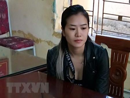 Đối tượng Nguyễn Thị Bích Hạnh tại cơ quan điều tra.