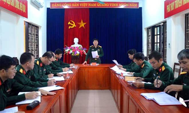 Đại tá Nguyễn Như Bách, Phó Chủ nhiệm Chính trị Quân khu 2 kết luận kiểm tra.