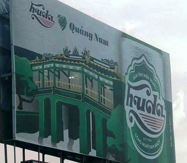 Hình ảnh chùa Cầu được sử dụng làm nền cho việc quảng cáo bia lan truyền trên mạng xã hội thời gian gần đây gây bức xúc trong dư luận.