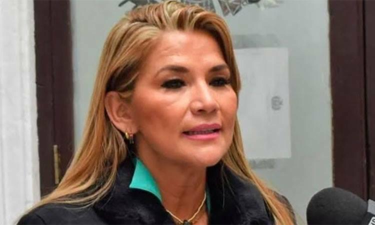 Phó chủ tịch Thượng viện Bolivia Jeanine Anez trả lời truyền thông ngày 11/11.