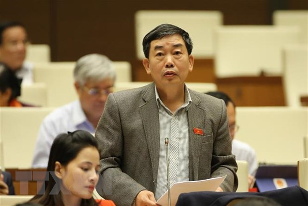 Đại biểu Quốc hội tỉnh Bà Rịa-Vũng Tàu Nguyễn Văn Tuyết thảo luận về dự án Luật sửa đổi, bổ sung một số điều của Luật Tổ chức Quốc hội.
