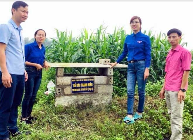 Huyện đoàn Yên Bình tích cực triển khai xây dựng các mô hình thu gom rác thải, bao bì thuốc bảo vệ thực vật.
