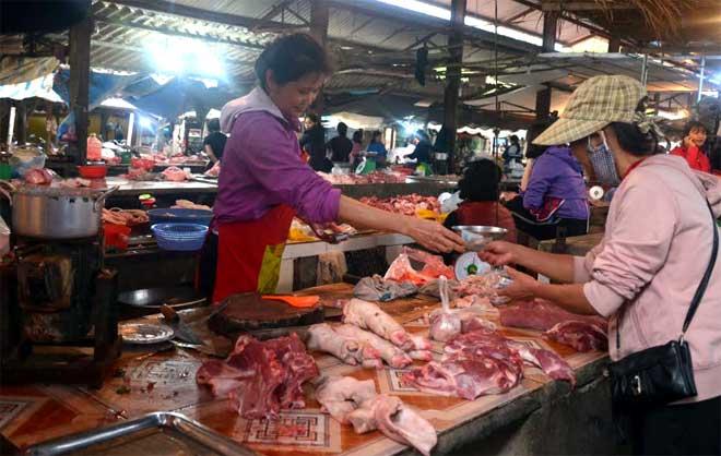 Giá thịt lợn trên thị trường tăng cao, người chăn nuôi lợn đang có lãi lớn.