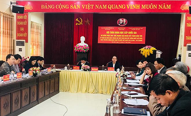 Các đại biểu dự Hội thảo tại điểm cầu Yên Bái