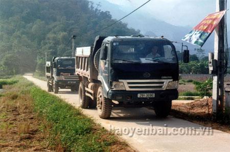 Đường nội thôn thuộc thôn Tân Quang, xã Liễu Đô (Lục Yên) đã được bê tông hóa, tạo thuận lợi cho nhân dân đi lại và phát triển kinh tế.
