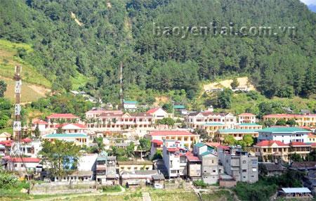 Một góc trung tâm huyện Mù Cang Chải.