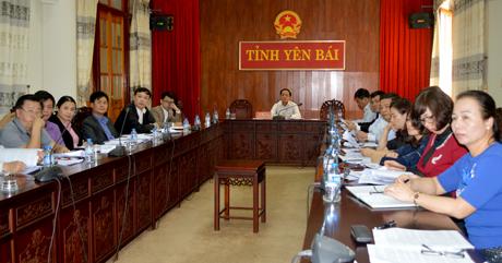 Các đại biểu dự họp tại điểm cầu Yên Bái