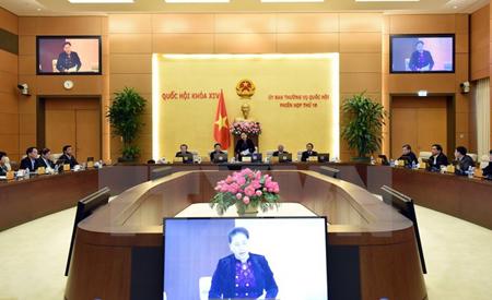 Chủ tịch Quốc hội Nguyễn Thị Kim Ngân chủ trì và phát biểu bế mạc Phiên họp thứ 19 của Ủy ban Thường vụ Quốc hội.