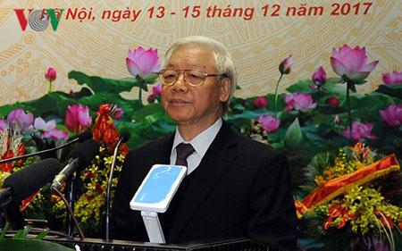 Tổng Bí thư Nguyễn Phú Trọng phát biểu chỉ đạo Đại hội  lần thứ VI Hội Cựu chiến binh Việt Nam.