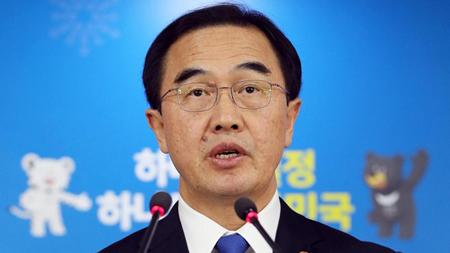 Bộ trưởng Thống nhất Hàn Quốc Cho Myoung-gyon.
