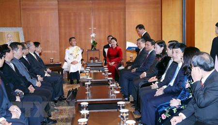Chủ tịch Quốc hội Nguyễn Kim Thị Ngân tiếp các đại biểu dòng họ Lý đang sinh sống tại Hàn Quốc.