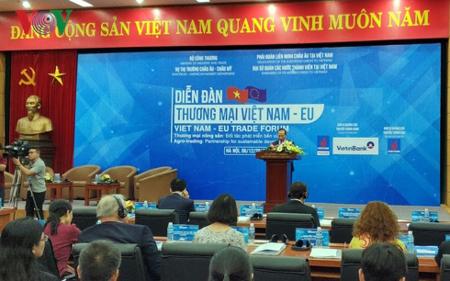 Diễn đàn Thương mại Việt Nam – EU với chủ đề: Thương mại nông sản – đối tác phát triển bền vững.