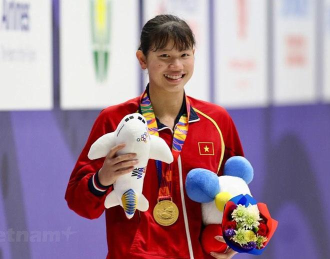 Nguyễn Thị Ánh Viên có Huy chương vàng thứ 6.