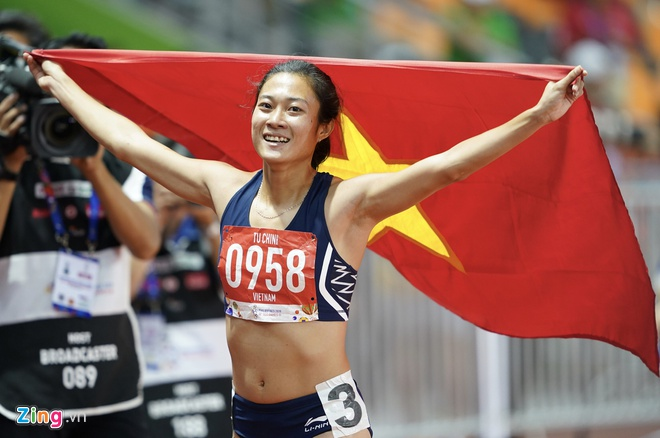 Lê Tú Chinh lên ngôi vô địch nội dung 100m nữ đầy xứng đáng.