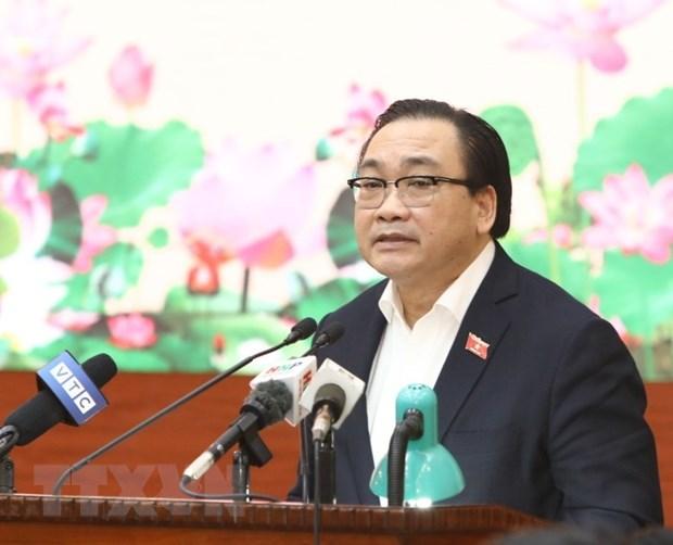 Ủy viên Bộ Chính trị, Bí thư Thành ủy Hà Nội Hoàng Trung Hải.