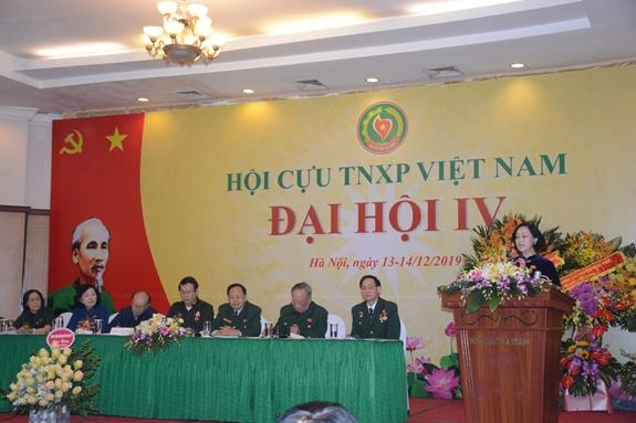 Đồng chí Trương Thị Mai phát biểu tại Đại hội.