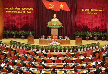 Hội nghị lần thứ nhất, Ban Chấp hành Trung ương khóa XII.