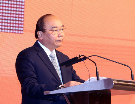 Thủ tướng Nguyễn Xuân Phúc phát biểu tại Diễn đàn.