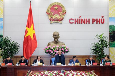 Thủ tướng Nguyễn Xuân Phúc phát biểu tại cuộc làm việc
