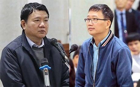 Bị cáo Đinh La Thăng bị đề nghị mức án từ 14-15 năm tù về tội Cố ý làm trái, còn bị cáo Trịnh Xuân Thanh bị đề nghị tổng hình phạt Chung thân cho hai tội Cố ý làm trái và Tham ô tài sản