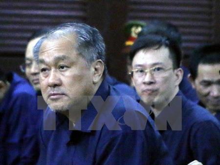 Bị cáo Phạm Công Danh và đồng phạm tại phiên tòa xét xử sơ thẩm ngày 12/1.