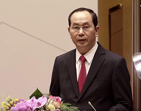 Chủ tịch nước Trần Đại Quang.