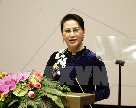 Chủ tịch Quốc hội Nguyễn Thị Kim Ngân, Chủ tịch APPF 26 đọc diễn văn khai mạc.