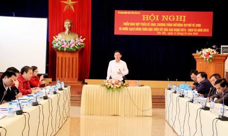 Đồng chí Nguyễn Văn Khánh - Phó Chủ tịch UBND tỉnh phát biểu kết luận Hội nghị.