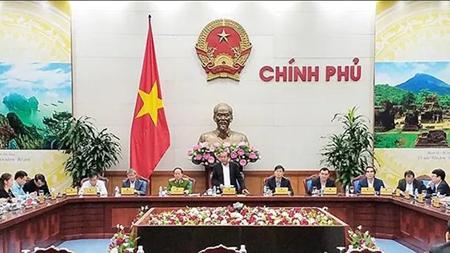 Đồng chí Trương Hòa Bình, Ủy viên Bộ Chính trị, Phó Thủ tướng Thường trực Chính phủ chủ trì phiên họp.