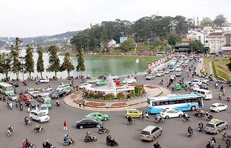 Đà Lạt - điểm đến thu hút rất đông khách du lịch trong dịp Tết.