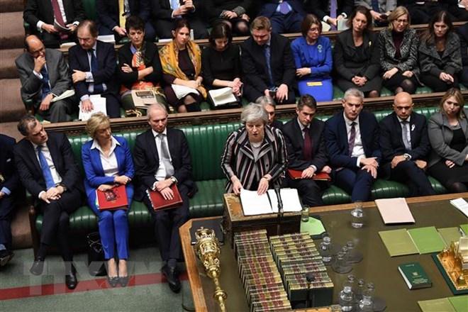 Thủ tướng Anh Theresa May phát biểu trong cuộc họp Hạ viện tại thủ đô London.