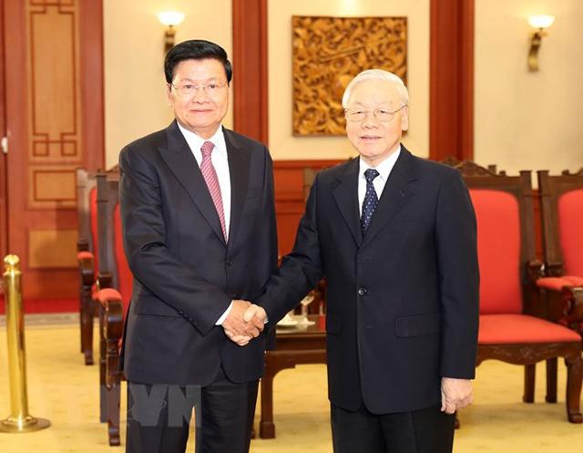 Tổng Bí thư, Chủ tịch nước Nguyễn Phú Trọng tiếp Thủ tướng Lào Thongloun Sisoulith.