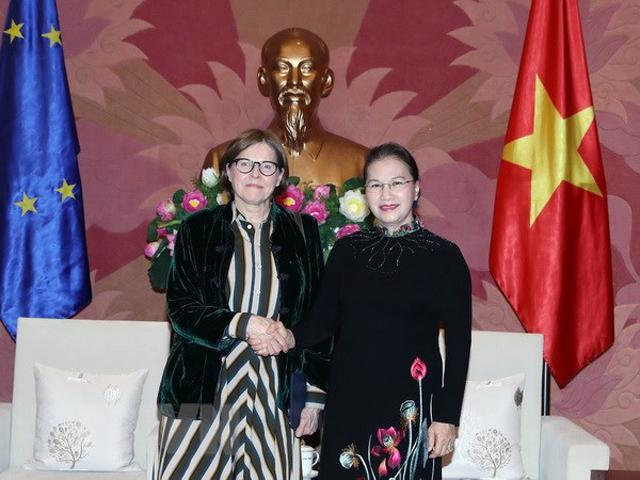 Chủ tịch Quốc hội Nguyễn Thị Kim Ngân tiếp bà Heidi Hautala, Phó Chủ tịch Nghị viện châu Âu.