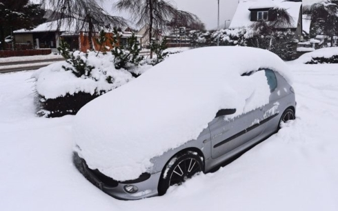 Tuyết dày ở châu Âu.