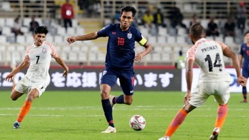 Thái Lan thua đậm Ấn Độ ở trận ra quân Asian Cup 2019.