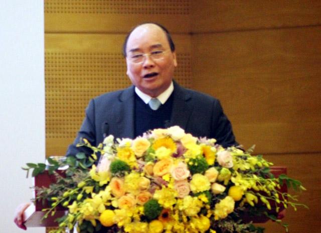 Thủ tướng Chính phủ Nguyễn Xuân Phúc phát biểu chỉ đạo hội nghị.