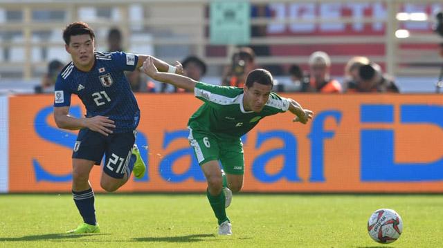 Turkmenistan chơi tốt nhưng vẫn không thể tạo bất ngờ trước Nhật Bản có đẳng cấp cao hơn.