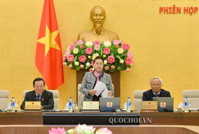 Chủ tịch Quốc hội phát biểu khai mạc phiên họp.