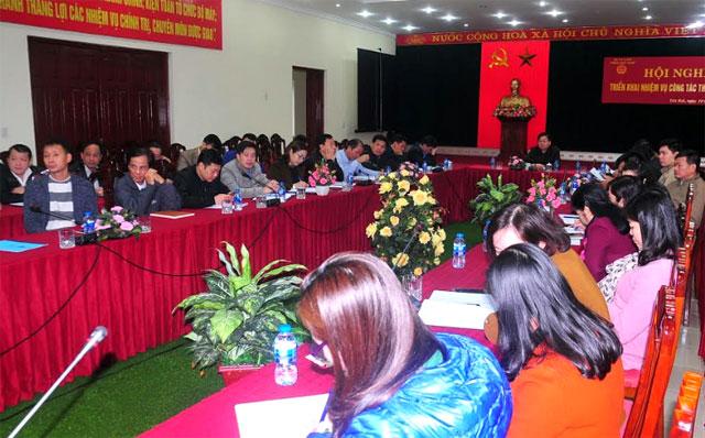 Tại điểm cầu Yên Bái, đồng chí Nông Xuân Hùng – Cục trưởng Cục Thuế Yên Bái chủ trì.