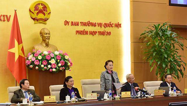 Chủ tịch Quốc hội Nguyễn Thị Kim Ngân phát biểu bế mạc.