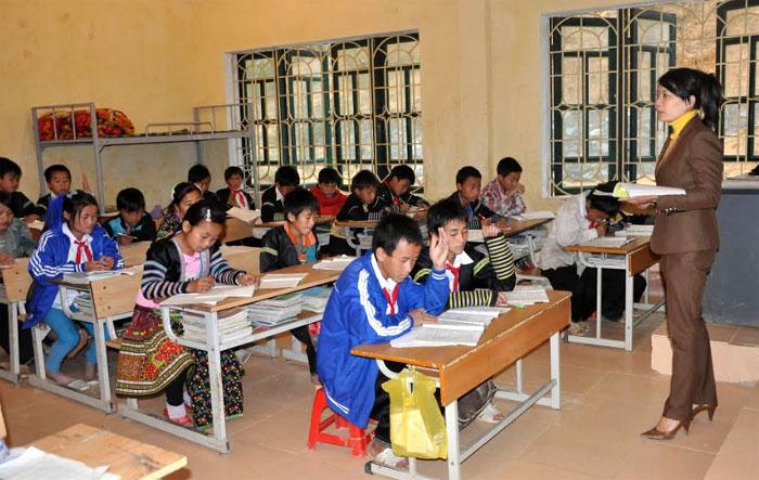 Thời gian qua, Yên Bái chú trọng nâng cao chất lượng các trường PTDTNT, đảm bảo đến năm 2020 có 100% trường PTDTNT đạt chuẩn quốc gia. (Ảnh: Hồng Oanh)