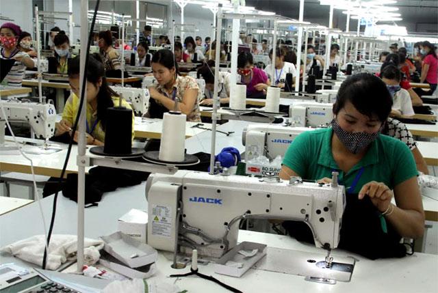 Nhóm hàng công nghiệp nhẹ, đặc biệt là may mặc đóng góp lớn vào kim ngạch xuất khẩu của tỉnh.