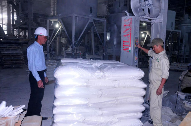 Sản phẩm bột cacbonnatcanxi của Công ty cổ phần Eco Green Plastic đã xuất đi hàng chục nước trên thế giới.