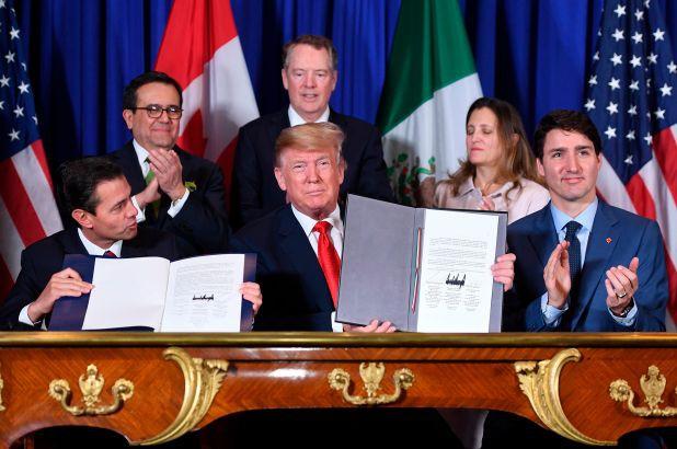 Mỹ, Mexico và Canada ký các văn kiện liên quan đến USMCA.