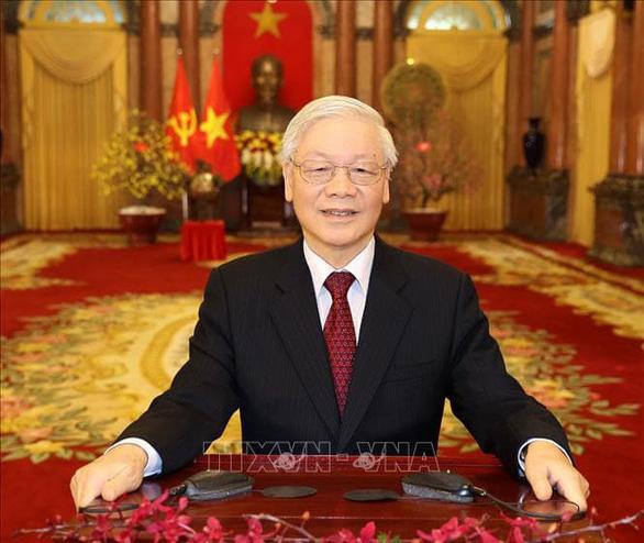 Tổng Bí thư, Chủ tịch nước Nguyễn Phú Trọng đọc thư chúc tết