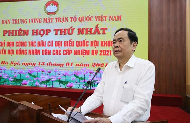 Ông Trần Thanh Mẫn phát biểu chỉ đạo tại phiên họp thứ nhất.