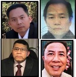 4 kẻ cầm đầu tổ chức khủng bố Triều đại Việt. (Ảnh: Bộ Công an)