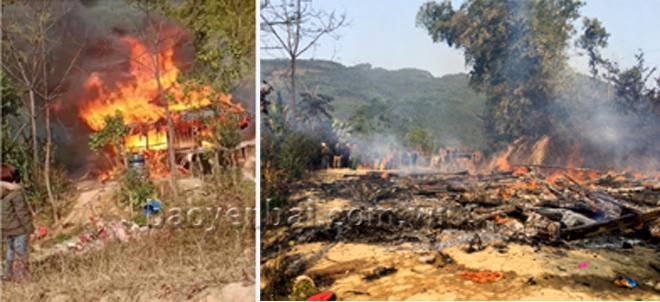 Hiện trường vụ cháy nhà do chập điện