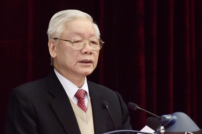 Tổng Bí thư, Chủ tịch nước Nguyễn Phú Trọng phát biểu khai mạc Hội nghị Trung ương 15.